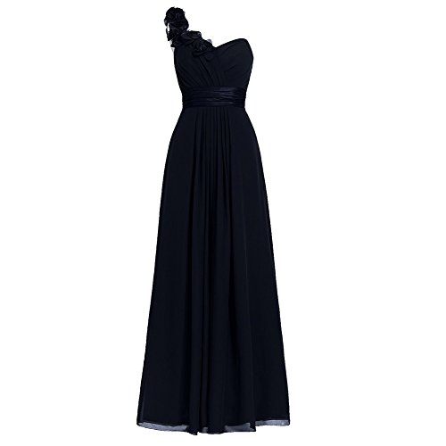 Night Moves Prom Gowns (H.S.D Women's Simple Floral One Shoulder Long Bridesmaid Dresses Prom Gowns)