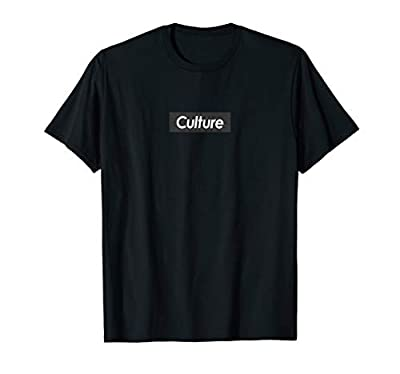 Mens B Migos Culture Red Logo Box T-Shirt | Fitted