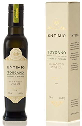 Dressing Italian Tuscany - Entimio 2018 Award-Winner Medium-Intensity Tuscan Extra Virgin, Italian Olive Oil | Toscano IGP Colline di Firenze | Estate Bottled, from Tuscany | Fruity, High in Antioxidants | 8.5 fl oz