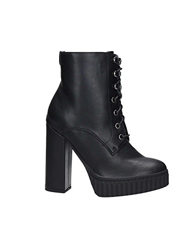 TRONCHETTO DONNA GUESS STIVALETTO ANFIBIO GIULIA CON ZIP LEATHER BLACK Black