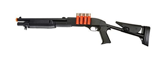 UK ARMS 1:1 Pump Action Spring Powered Airsoft Shotgun - 430 FPS