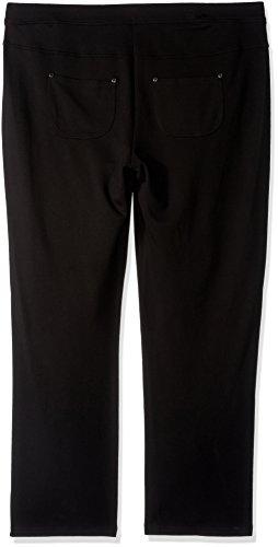 Calvin Klein Performance Women's Plus Size Ponte Bootleg Pant-30 Inseam, Black, 2X