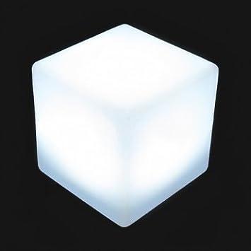 Cubo Luminoso con LUZ LED 40cm, Cambio de Color, Sin Cables, 24H