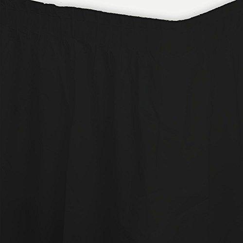 (Creative Converting Black Plastic Table Skirt (Each))