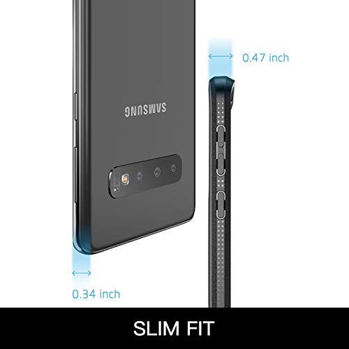 YOUMAKER Case for Galaxy S10 Plus, Built-in Screen Protector Work with Fingerprint ID Crystal Clear Heavy Duty Protection Shockproof Cover for Samsung Galaxy S10+ Plus 6.4 Inch (2019) - Blue