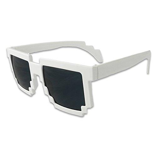 8-Bit Pixel Retro Computer Sun Glasses Nerd Sunglasses 8 Bit - Nerd Protector Pocket