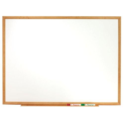 Quartet Standard Whiteboard, 6 x 4 Feet, Oak Frame (S577)