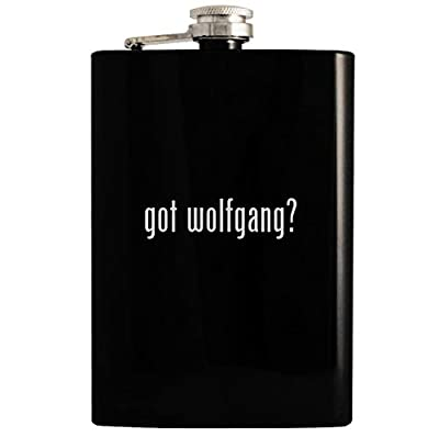 got wolfgang? - 8oz Hip Drinking Alcohol Flask, Black