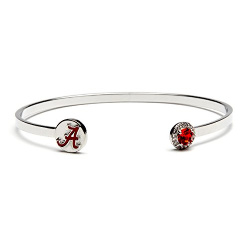 University of Alabama Bangle Bracelet | Alabama Jewelry | Stainless Steel Crimson Tide Gift