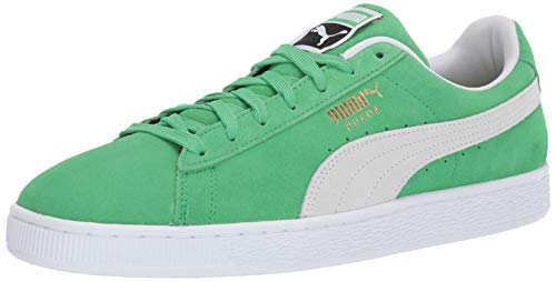 PUMA Men's Suede Classic Sneaker, Irish Green White, 11 M US