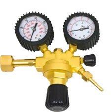 Riduttore di pressione 315bar per saldatura Argon//CO2 2 manometri attacco bombol