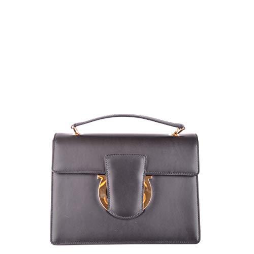 - Salvatore Ferragamo women's leather cross-body messenger shoulder bag thalia bla
