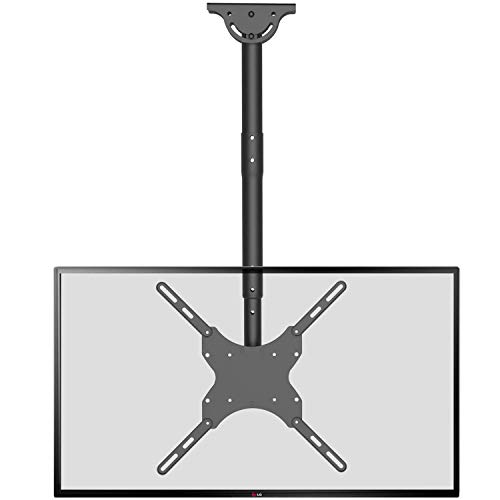 TV Ceiling Mount Adjustable Bracket Fits Most LED, LCD, OLED and Plasma Flat Screen Display 26 to 65 inch, up to 110 lbs, VESA 400 by 400mm (CM2665), Black by WALI (Renewed)