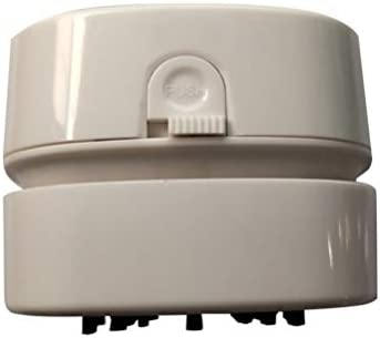 LIOOBO Desktop Stofzuiger USB Oplaadbare Draagbare Handheld Mini Tafel Stofzuiger voor Computer Toetsenbord Thuis Kantoor Wit Battery Kleur wit
