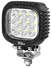 HELLA 1GA 357 109-012 reflektor roboczy - Valuefit S3000 - LED - 12 V/24 V - 3000 lm - przykręcany - daleko rozległe oświetlenie - kabel: 800 mm - wtyczka: niemiecka - aluminiowa obudowa