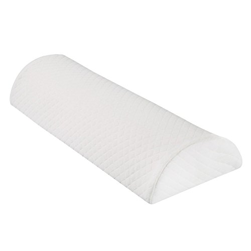 SUPPORT PLUS Half-Moon Bolster/Wedge - Premium Support Pillow for Sleeping on Side or Back - Back Pain Relief, Head, or Knee Cushion - Memory Foam Semi-Roll with Washable Removable Cover - 20