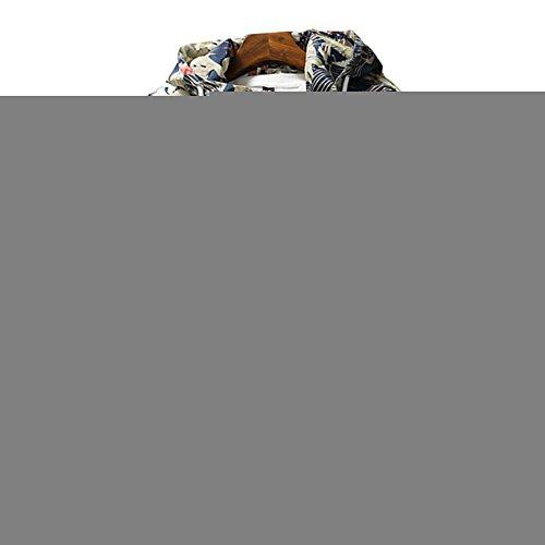 Amcupider Men's Contrast Zip Front-Zip Jacket, Floral & White, US S/Tag 2XL - Bape Ape