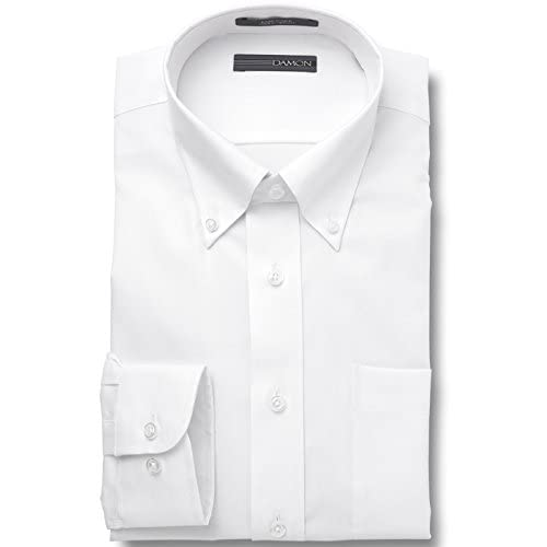 Cheap Damon Big and Tall Long Sleeve Ultra Pinpoint Button Down Dress Shirt for sale