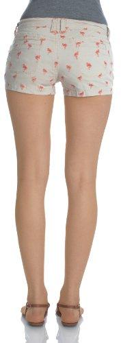 WallFlower Juniors Flamingo Embroidered Shorts