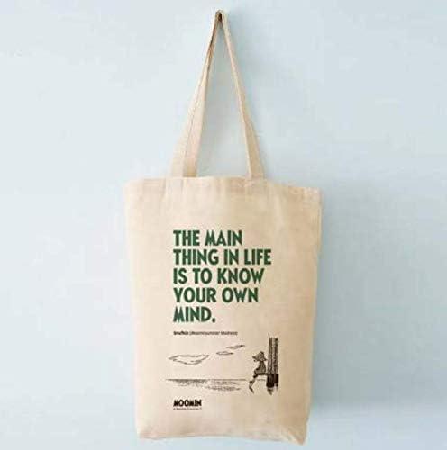 Moomin Snufkin - Bolsa de la compra reutilizable (37 x 42 cm, 100% algodón): Amazon.es: Hogar
