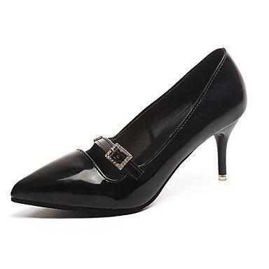 RTRY La Mujer Tacones Zapatos Formales Pu Fall Parte &Amp; Traje De Noche Caminar Zapatos Formales Rhinestone Stiletto Talón Rubor Rosa Negro Beige2A-2 US6 / EU36 / UK4 / CN36
