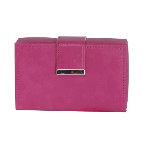 Mele & Co. Joni Travel Jewelry Case, Faux Leather, Magenta