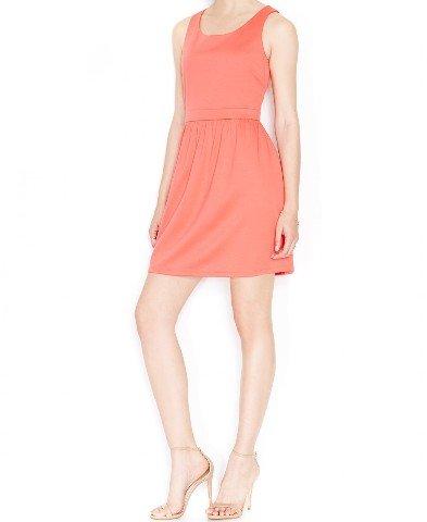 Maison Jules Womens Textured Sleeveless Casual Dress Pink M
