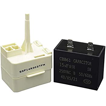 Amazon com: Refrigerator Compressor Relay & Capacitor