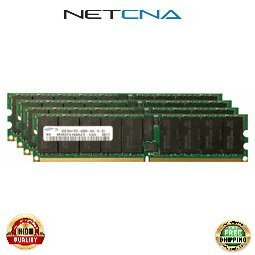 AB566A 16GB (4 x 4GB) HP/Compaq PC2-4200 DDR2-533 240-pin Registered ECC DIMM Memory Kit 100% Compatible memory by NETCNA USA (4200 Compaq Hp)