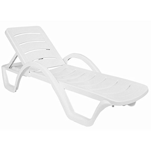 Compamia Sunrise Pool Chaise Lounge in White - Set of 4 (Chaise Lounge Chairs Commercial)