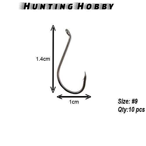 Hunting Hobby Fishing Hooks High Carbon, Sharp Bent Black 9 – 10 Pieces Price & Reviews