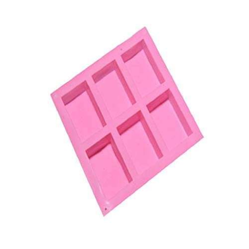 6 Cavity Plain Basic Rectangle Silicone Mould For Homemade Craft Soap - Kettle Casserole