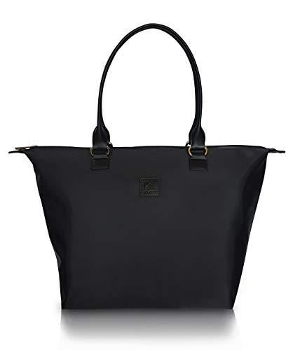 Klott Carry On Travel Handbag w Hidden Trolley/Luggage Sleeve. UnderSeat Purse/Tote Bag