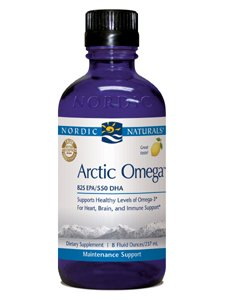 Nordic Naturals Pro Arctic Omega Liquid- Fish Oil, 745 mg EPA, 500 mg DHA, Helps Maintain Healthy Omega-3 Levels for Heart, Brain, and Immune Support, Lemon Flavored, 8 oz.