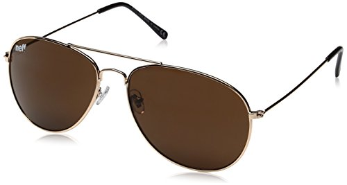 Neff Men's Bronz, Gold, One - Brodie Sunglasses Neff