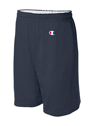 Champion Men's  6-Inch Navy   Cotton Jersey Shorts - Large