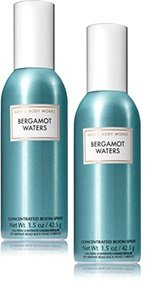 Bath and Body Works 2 Pack Bergamot Waters Room Spray 1.5 oz.