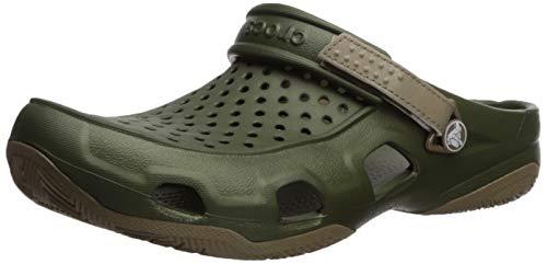 Crocs Men's Swiftwater Deck Clog M, Army Green/Khaki 9 M US