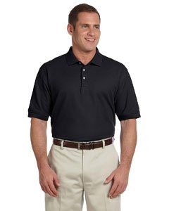 Devon & Jones Men's Pima Pique Short Sleeve Polo Shirt D100 Black X-Large