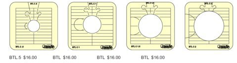 Sew Steady Westalee Between The Lines 4pc Template Set