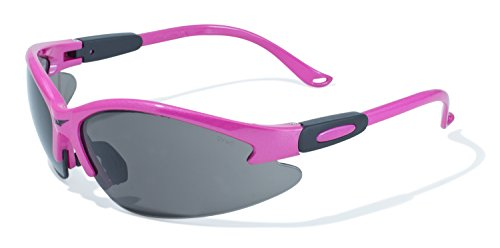 Global Vision Eyewear Pink Frame Cougar Safety Glasses with Smoke - Amazon Safety Sunglasses