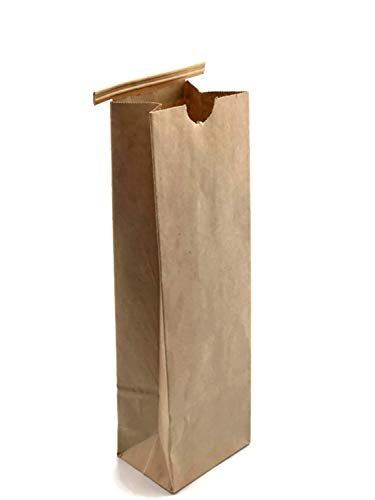 NEWPAK - Compostable Recycled Natural Kraft Paper PLA-Lined Resealable Tin Tie Bags Pack (250) 1/2LB-1LB-2LB-5LB (1/2LB, Bag 350 - PLA- 3 3/8 x 2 1/2 x 7 3/4)