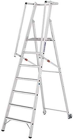Tubesca - Escalera de alta seguridad de aluminio 7 peldaños, altura de acceso 3,83 m máx. - Magnum 2.: Amazon.es: Bricolaje y herramientas