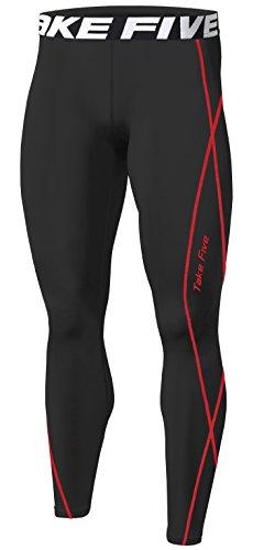 New Sports Compression Tight Skin Pants Base Layer Running Leggings Men Women (S, TK197 BLACK)