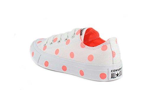 Converse Womens Chuck Taylor All Star Polka Dots Sneaker Low Top Bianco / Crimson Pulse / Bianco