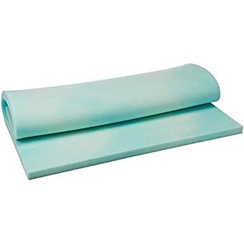"""DreamFoam Bedding DF20GT2046 2"""" Gel Swirl Memory Foam Topper, Full, Blue"""