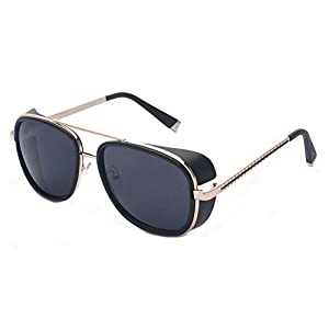 Outray Unisex Cover Side Shield Square Sunglasses A15 Black