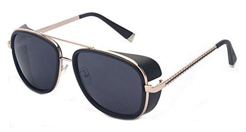 Outray Unisex Cover Side Shield Square Sunglasses A15 - Side Shield Sunglasses