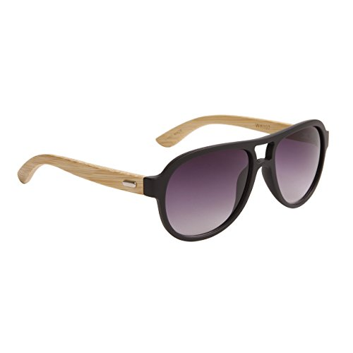 FancyG California Classic Bamboo Wood Temples UV Protection Sunglasses Handmade Premium Quality - Oval Style - - California Sunglasses