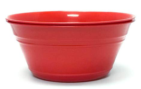 Mintra Home Bowls Set (Large 2pk, 135 ounces, Red) for Mixing, Party, Snacks, Serving, Everyday Use, Birthday Parties, Chips, Serving Salads, Popcorn, Dessert, BPA free, Dishwasher Safe. (Bowls Plastic Christmas)